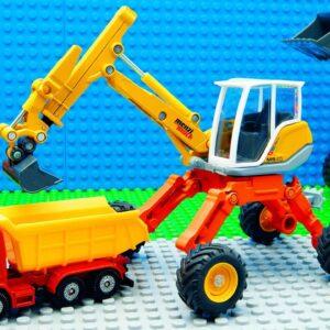 Big Trucks Excavator Bobcat Tower Crane Dump Truck Racing