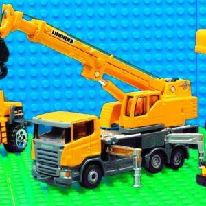 Building Truck Car Transporter Big Crane