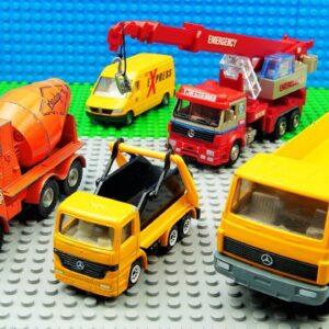 Bulldozer Truck Road Roller Steamroller Crane Car Excavator
