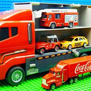 Bus Truck Car Transporter Flat Bed Truck