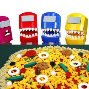 CHEESY PIZZA MUKBANG - Among Us Lego Animation