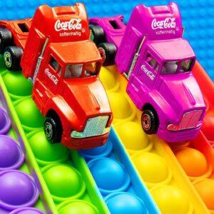 Coco Cola Truck Pop it Trucks Pickup Racing City Bus