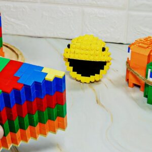 Awesome Rainbow Cake from LEGO PAC-MAN - Stop Motion Cooking & ASMR Funny Pacman