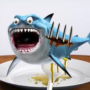 Eating BABY SHARKS for Meal | Lina Tik ASMR Mukbang eating sounds