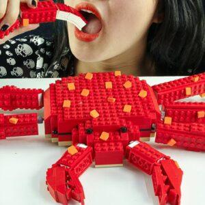 EATING LEGO KING CRAB IRL 🦀 ASMR Mukbang Seafood