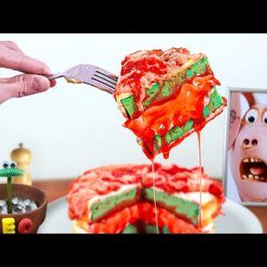 Eating Raw Meat Cake for Dinner  - ASMR Mukbang Animation