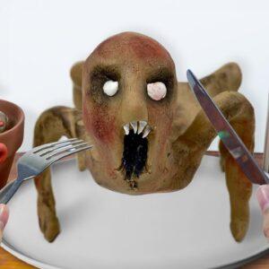 Eating SLENDRINA'S CHILD in Granny's House - ASMR Mukbang Food Challenge
