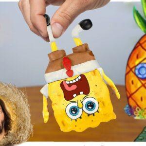 Eating Sponge Bob Mukbang for Lunch | ASMR Food Animation