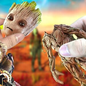 Eatting Baby Groot In Guardians Of The Galaxy | ASMR Food Animation