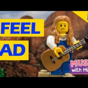 I FEEL SAD | A LEGO STOP MOTION MUSIC VIDEO | FEELINGS SONG | MUSIC WITH MICHAL