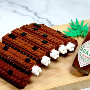 Making LEGO BBQ Ribs In Real Life - Minecraft Animation | Stop Motion Cooking & ASMR