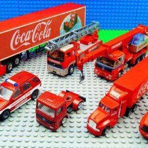 Fuel Truck Car Bus Supercar Big Truck Coco Cola Trucks Pickup Racing