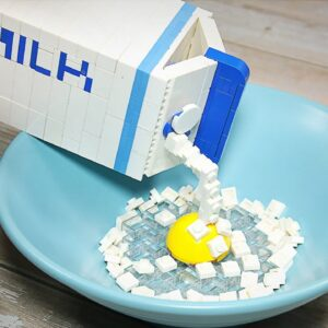 Making Baked Cheese Custard from Lego in real life - Stop Motion Cooking & ASMR