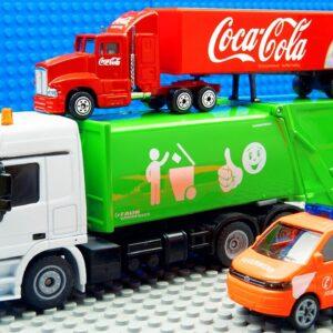 Garbage Trucks Food Truck Crane Grader Excavator Racing