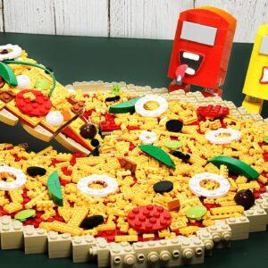 Making Lego Pizza for AMONG US / Stop Motion Cooking & ASMR Animation Mukbang