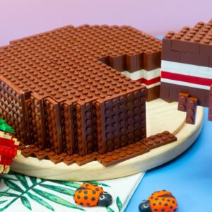 Lego Chocolate Cake - Lego In Real Life 20 / Stop Motion Cooking & ASMR