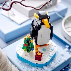 lego christmas penguin 40498 set now up at lego com