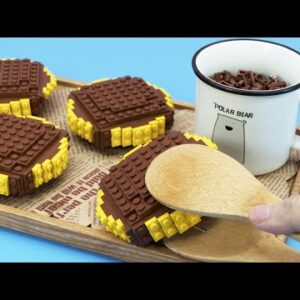 Lego Custard - Lego In Real Life 21 / Stop Motion Cooking & ASMR