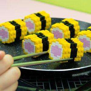 Lego Egg Sushi - Lego In Real Life 19 / Stop Motion Cooking & ASMR