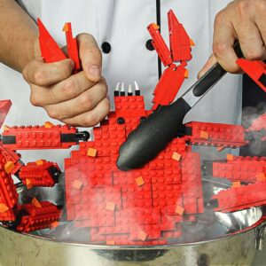 LEGO GIANT KING CRAB - Lego In Real Life / Stop Motion Cooking & ASMR