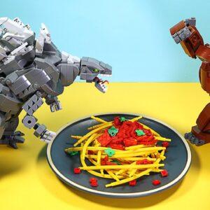 LEGO GODZILLA vs KONG : Battle for Spaghetti - Stop Motion Cooking (Part 1)