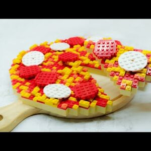 Lego Homemade Pizza - Lego In Real Life 18 / Stop Motion Cooking & ASMR