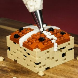 Lego in Real Life - Hot Cross Bun for Easter / Stop Motion Cooking & ASMR