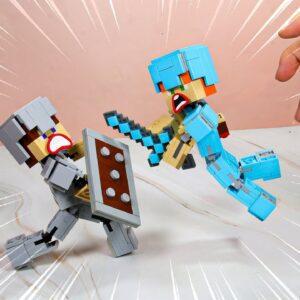 LEGO MINECRAFT vs REAL LIFE #2 - Stop Motion Animation 4K