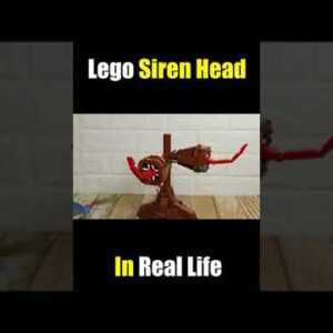 Lego Siren Head in Real Life (part 2) #Shorts