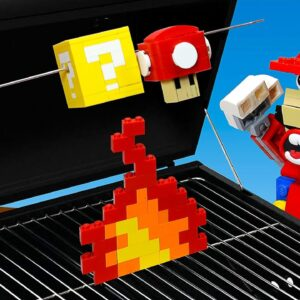 LEGO Super Mario : Cheese Hot Dog Party IRL | Stop Motion Cooking ASMR 4k