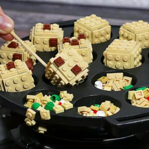 Lego Takoyaki Octopus (Street Food in Japan) - Stop Motion Cooking ASMR