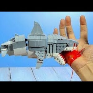 Lego Zombie Shark - Lego In Real Life | Animation Stop Motion Cooking ASMR