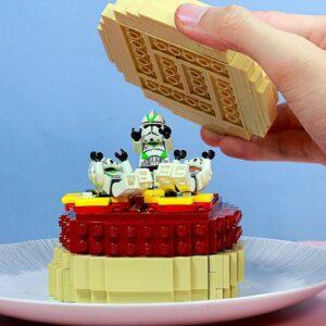 Making Lego Hamburger (Star Wars style) - Stop Motion Videos | Cooking ASMR