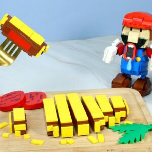 LEGO Super Mario: Making Cheesesteak From Pacman IRL | Stop Motion Animation ASMR 4k