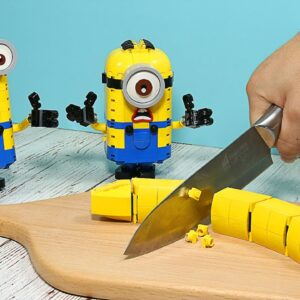 Making Minions Banana Cake from Lego in real life - Stop Motion Cooking & ASMR 4K