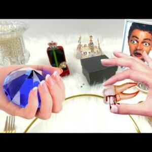 My tooth is broken!! Eat diamonds and luxury jewelry| Mukbang animation