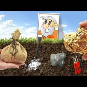 Eating Gold Miner(GOLD, ROCKS, MOUSE) In Real Life - ASMR Food Mukbang Animation