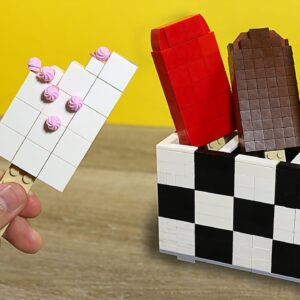 Eating Lego Ice Cream - Lego In Real Life / Stop Motion Cooking & ASMR