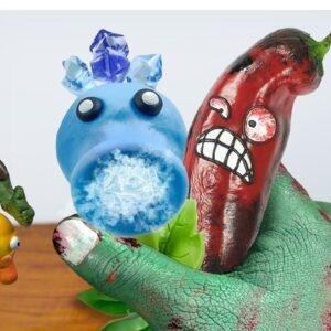 Linatik Eating PLANTS vs ZOMBIES for Food in Real Life | ASMR Food Mukbang Animation