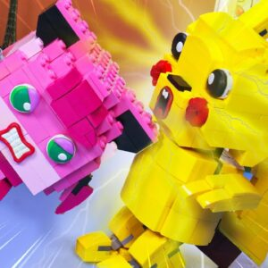 Lego Pokemon: Pikachu and Love Story in real life / Stop Motion Cooking ASMR