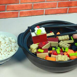 Lego Korean Braised Short Ribs with Rice (galbi-jjim) - Stop Motion Cooking & ASMR