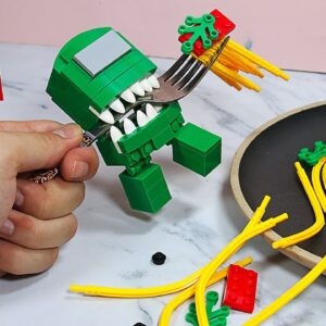 AMONG US LEGO MOVIE #3 (END) - if Everything is FOOD | Stop Motion Cooking & ASMR Animation 4K