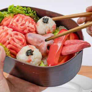 HORROR BENTO BOX for Lunch !! Lina Tik ASMR Mukbang food sounds no talk/Kluna Tik Style