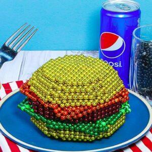 Perfect Burger From Magnetic Balls (Satisfying) - DIY | ASMR Food Animation