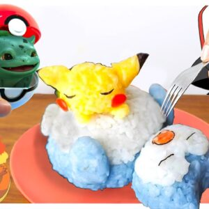 Eating Pokémon in Real Life (Pikachu, Bulbasaur, Kabigon, Charmander) - Cooking ASMR