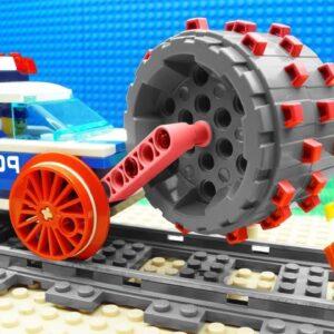 Police Train Streamroller vs Train