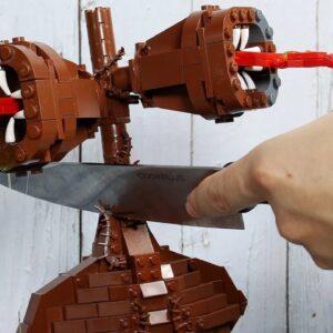 LEGO SIREN HEAD & GODZILLA IRL - Funny Food Animation | Stop Motion Cooking & ASMR 4k