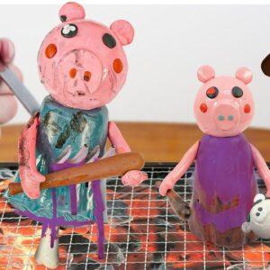 ROBLOX PIGGY  & FOOD CHALLENGE! Mukbang ASMR Eating