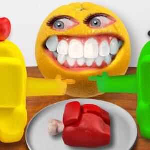 Among Us: Who is the IMPOSTOR? The Annoying Orange's Choice is.... ASMR Food Mukbang
