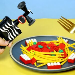 Perfect LEGO Seafood Pasta - Lego Siren Head In Real Life | Stop Motion Cooking & ASMR 4k